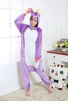 Пижама Кигуруми Единорог фиолетовый (M), фото 1