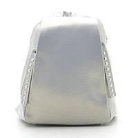 Рюкзак женский кожаный серебристый 185186, фото 1