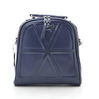Рюкзак женский кожаный синий (рюкзак-сумка) 185192, фото 1