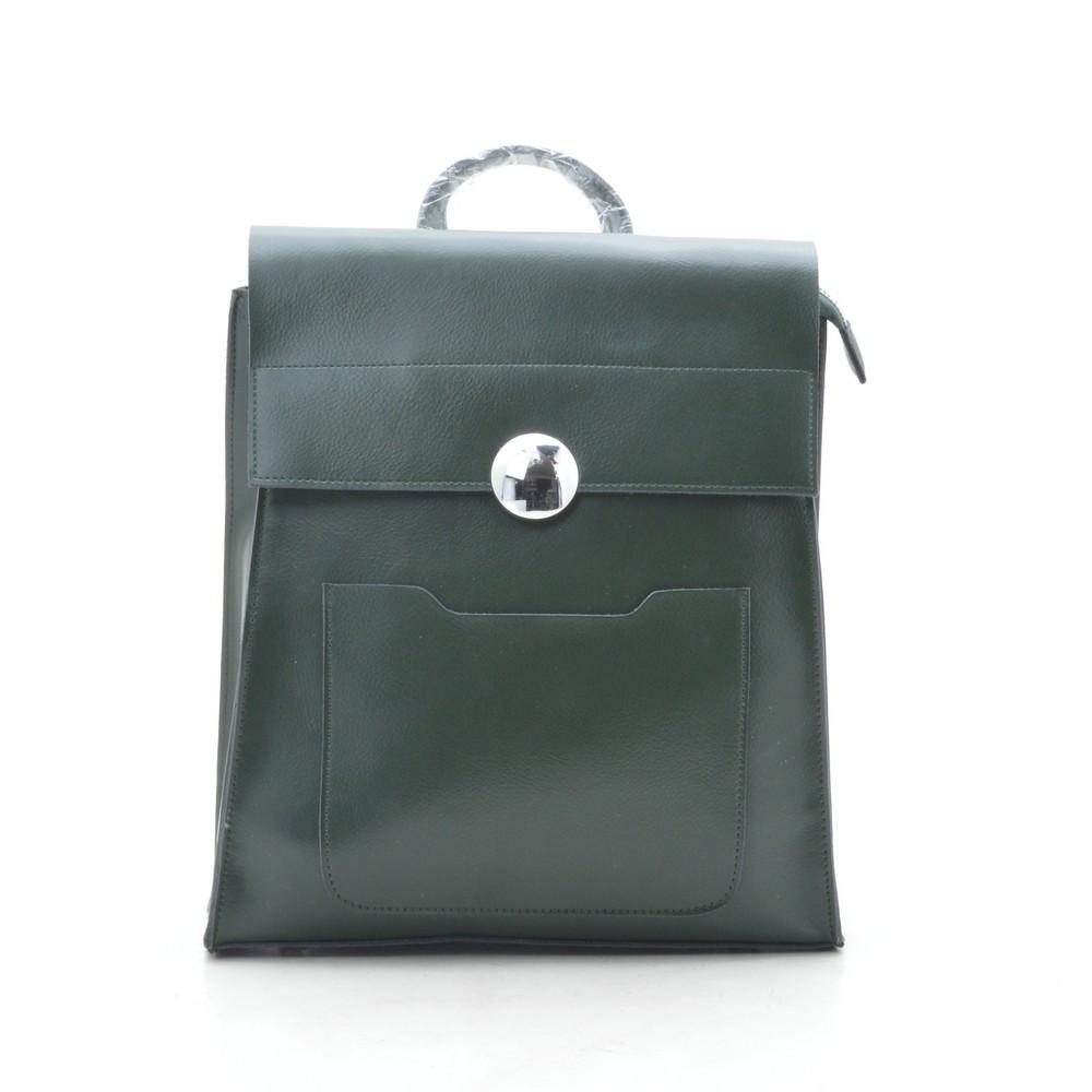 Рюкзак женский кожаный зеленый (рюкзак-сумка) 185224