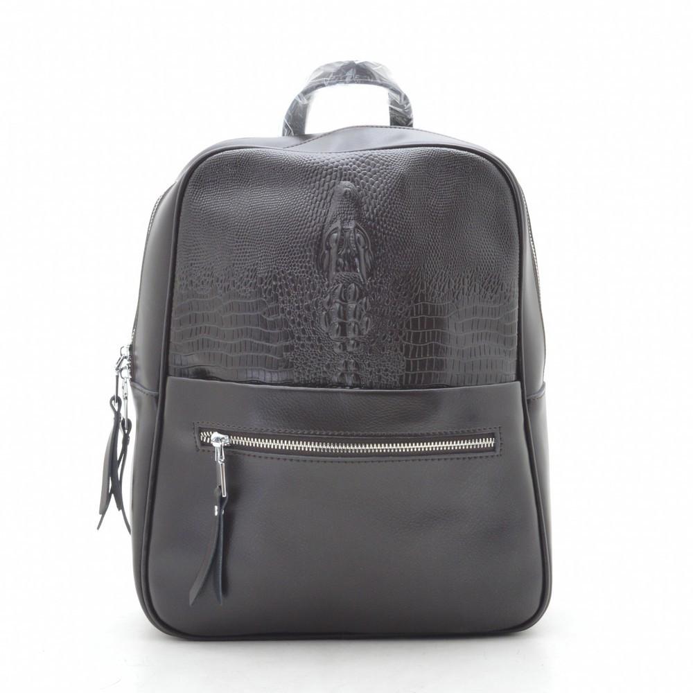 Рюкзак женский кожаный кофейный 185395