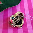 Серебряное винтажное кольцо с позолотой и перламутром Камея - Женское кольцо позолоченое, фото 7