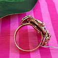 Серебряное винтажное кольцо с позолотой и перламутром Камея - Женское кольцо позолоченое, фото 6