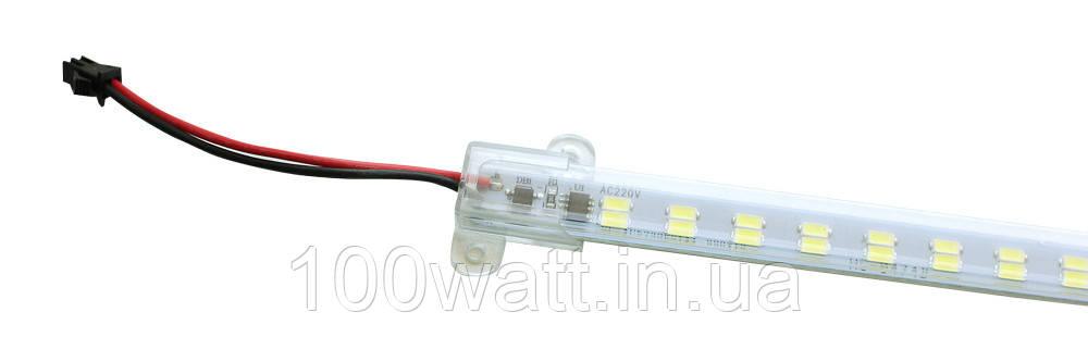 Світлодіодна лінійка магістральна SMD для підсвічування вітрин 220v 20w 1000мм ST 754
