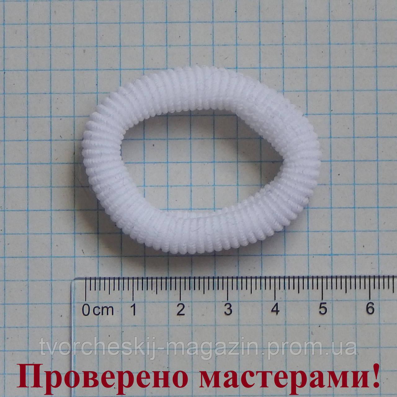 Резинка для волос 5 см диаметр, белая, 1 шт