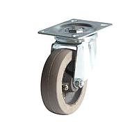 Колеса из термостойкой резины диаметр 100 мм с поворотным кронштейном