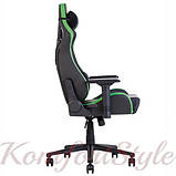 Крісло геймерське Hexter (Хекстер) PRO 01 чорний/зелений, фото 3