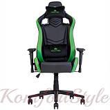Кресло геймерское Hexter (Хекстер) PRO 01 черный/зеленый, фото 4