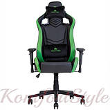 Крісло геймерське Hexter (Хекстер) PRO 01 чорний/зелений, фото 4