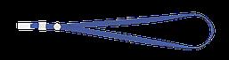 Шнурок для бейджа Buromax с клипом синий