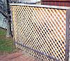 Деревянный забор с горизонтальной решеткой LNK