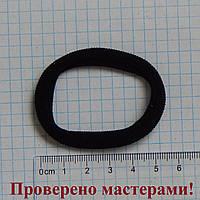 Резинка для волос 6 см диаметр, черная, 1 шт