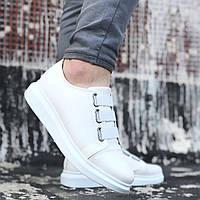 Мужские кроссовки белые полностью  wg2, фото 1