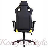 Кресло геймерское Hexter (Хекстер) PRO  01 черный/желтый, фото 4
