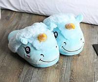 Домашние тапочки Единорог Blue, фото 1