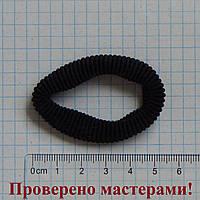 Резинка для волос 5 см диаметр, черная, 1 шт