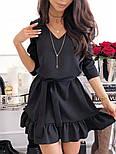 Женское платье прямое с рюшами и поясом (2 цвета), фото 2