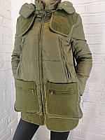 Куртка женская MissFofo с текстилем хаки