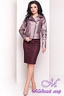Женская осенняя куртка (р. S, M, L) арт. Байкер 4669 - 34076