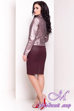 Женская осенняя куртка (р. S, M, L) арт. Байкер 4669 - 34076, фото 2