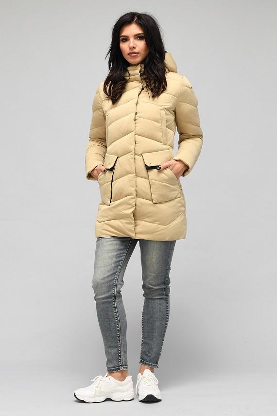 Зимняя куртка Хизер песок (42-50)