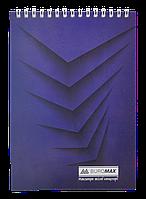 """Блокнот А5,Buromax """"Monochrome"""" 48  арк., картон.обкл., 70г/м2, синій(BM.2474-02)"""