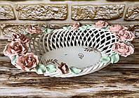 Цукерниця Олександрія Керамклуб плетінка квіткова ліплення 33см, фото 1