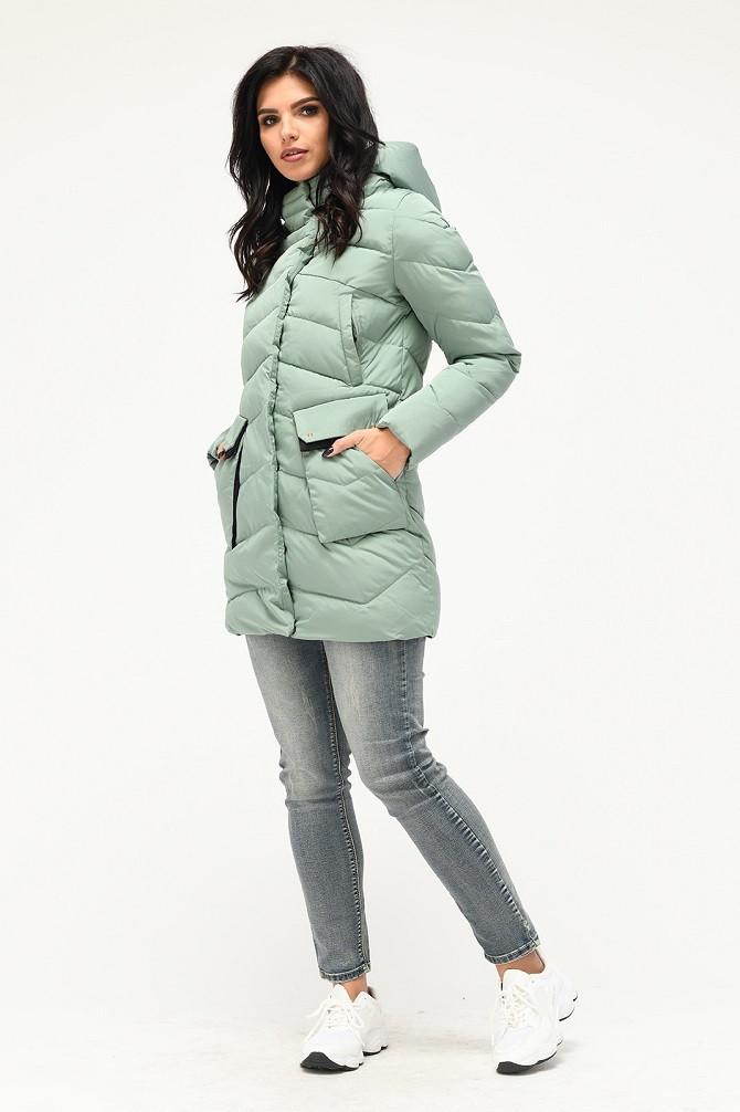 Зимняя куртка Хизер мята (42-50)