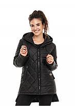 Модная женская куртка осень-весна Стелла черный (44-56)