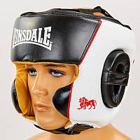 Шлем боксерский в мексиканском стиле кожаный Lonsdale Xpeed 8341 (шлем для бокса): размер M-XL