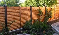 Деревянный забор горизонтальный LNK