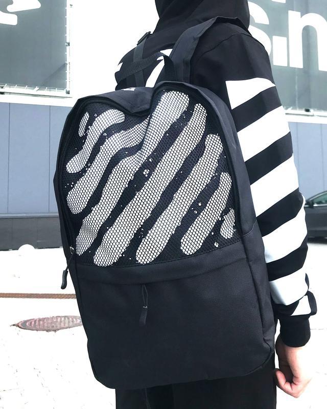 Рюкзак Off White черного цвета фото