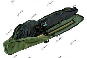 Чехол для удилищ с катушками Skyfish Оливковый (на 2 отделения) 110см, фото 2