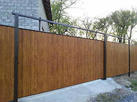 Деревянный забор вертикальный зашитый LNK