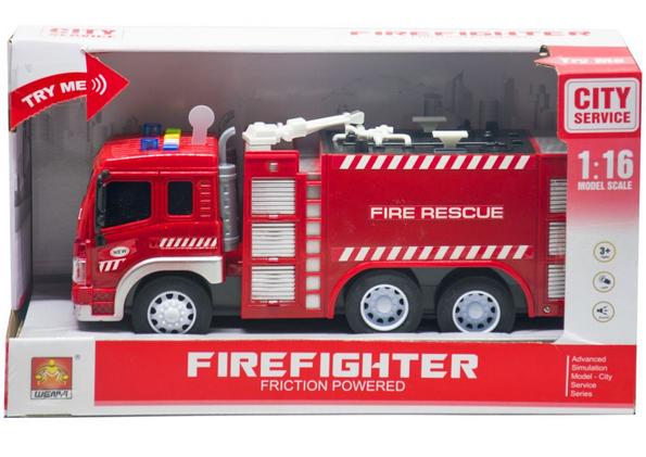 Машина инерционная музыкальная.Детская машина пожарная.Спецтехника.