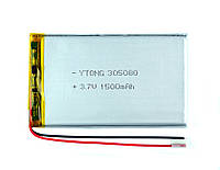 Аккумулятор (Батарея) для Планшетов, Электронных Книг, MP3, Ebook 1500 мАч/mAh 305080 3,7в Универсальный 3.7v