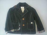 Пиджак детский коттоновый для мальчика серый