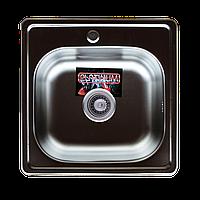 Квадратная стальная мойка Platinum 4848 Decor 0,6мм Декор