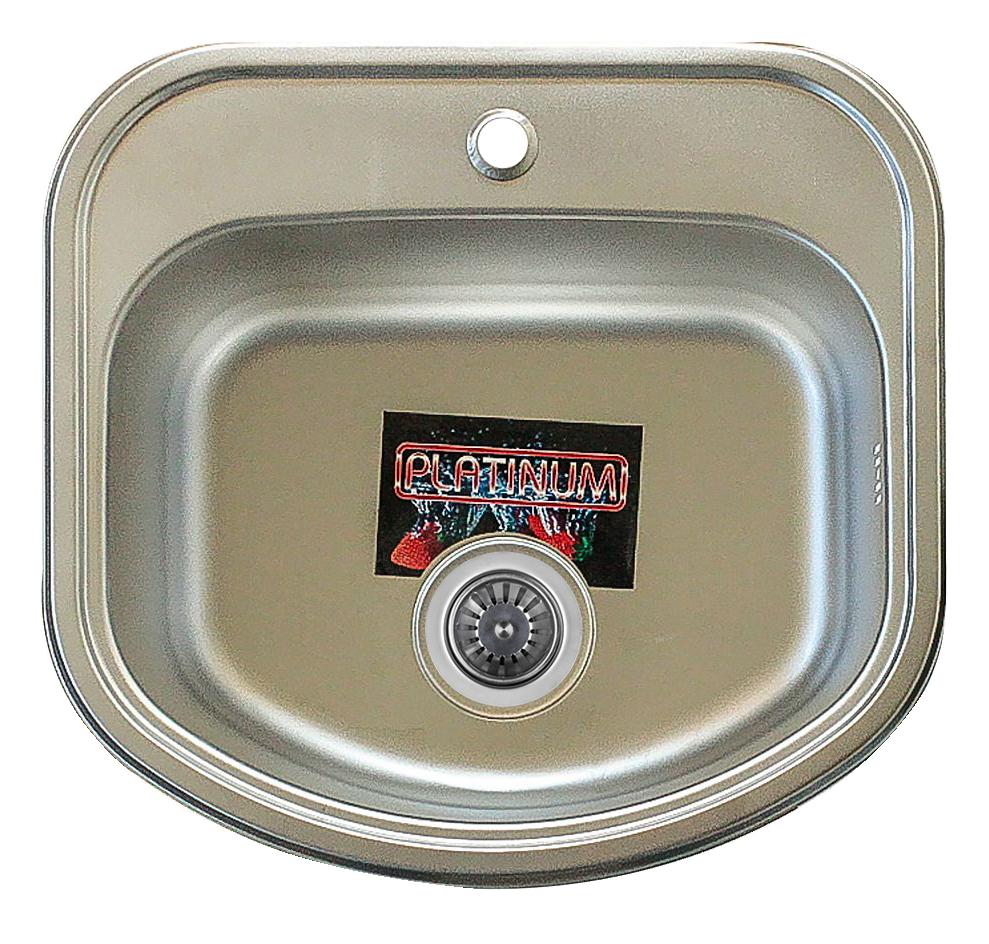 Мойка кухонная Platinum 4947 Satin 0,8мм стальная матовая