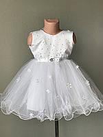 Платье снежинки размер 92-104 см, прокат карнавальной одежды, фото 1