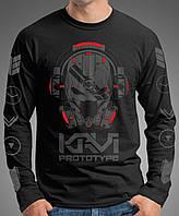"0004-LS-BK  Мужская футболка-лонгслив ""PROTOTYPE"" (Испания). Черная"