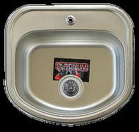 Мойка кухонная Platinum 4947 Decor 0,8мм нержавеющая сталь