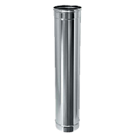 Труба дымоходная с нержавейки ø180 мм 0,5 мм - толщина L=1м
