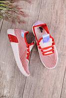 Женские кроссовки красные с белым текстиль, фото 1