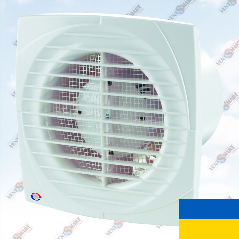 Тонкий вентилятор для вытяжки Вентс 100 Д (+ опции)