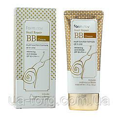 BB крем Farm Stay Snail Repair BB Cream SPF50 с муцином улитки