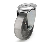 Колеса алюминиевые диаметр 100 мм с поворотным кронштейном с отверстием