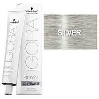 Silver - Краска для волос Schwarzkopf Professional Igora Royal Absolutes Silverwhite - Серебро - 60мл