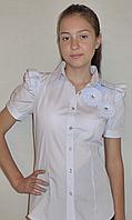 Белая блузка для девочек, фото 1