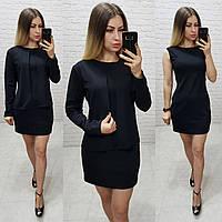 Платье с жакетом / накидкой, арт.173, цвет - черный